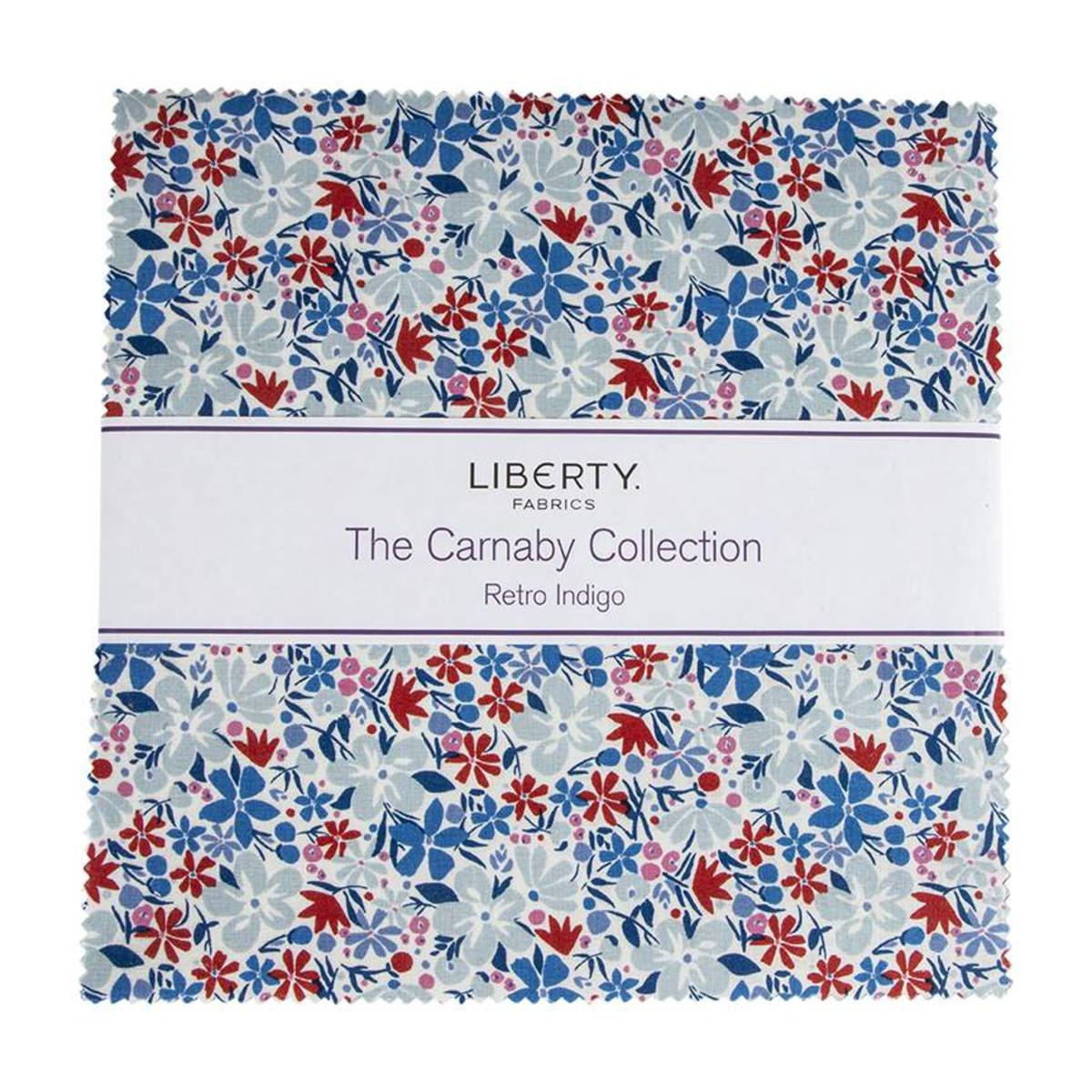 Riley Blake Layer Cake - The Carnaby Collection RETRO INDIGO by Liberty Fabrics