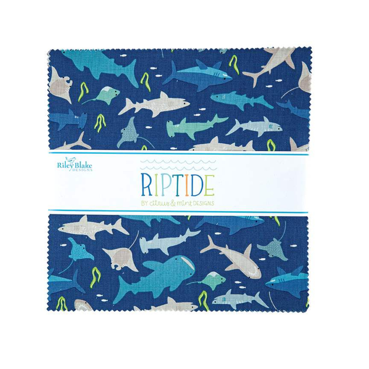 Riley Blake Layer Cake - Riptide by Citrus & Mint Designs