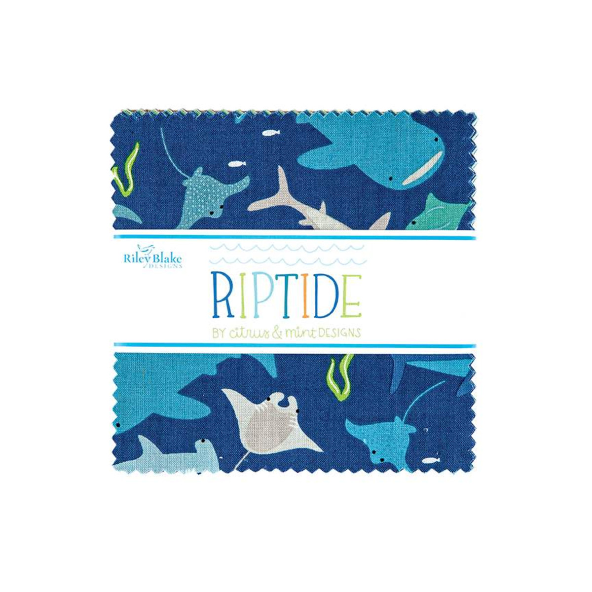 Riley Blake Charm Pack - Riptide by Citrus & Mint Designs