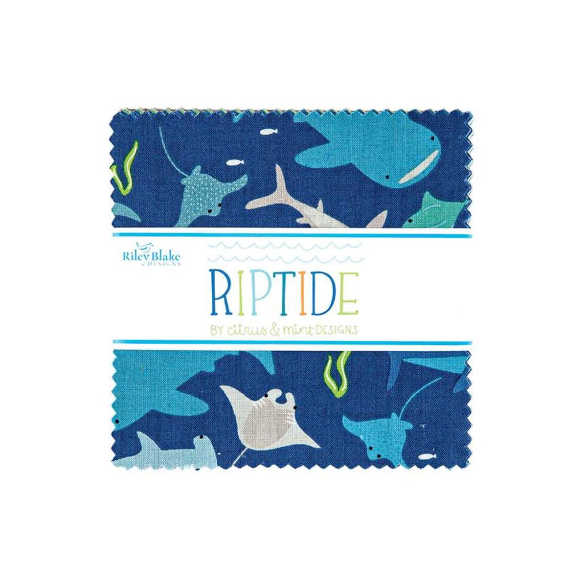 Riley Blake Charm Pack - Riptide by Citrus & Mint Designs