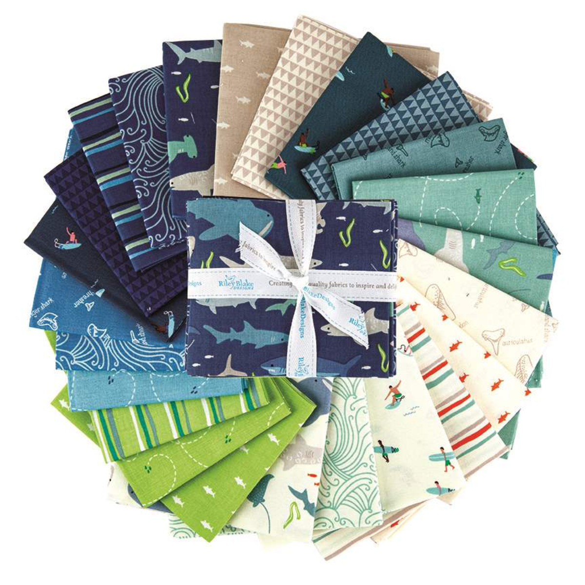 Riley Blake Fat Quarter Bundle - Riptide by Citrus & Mint Designs