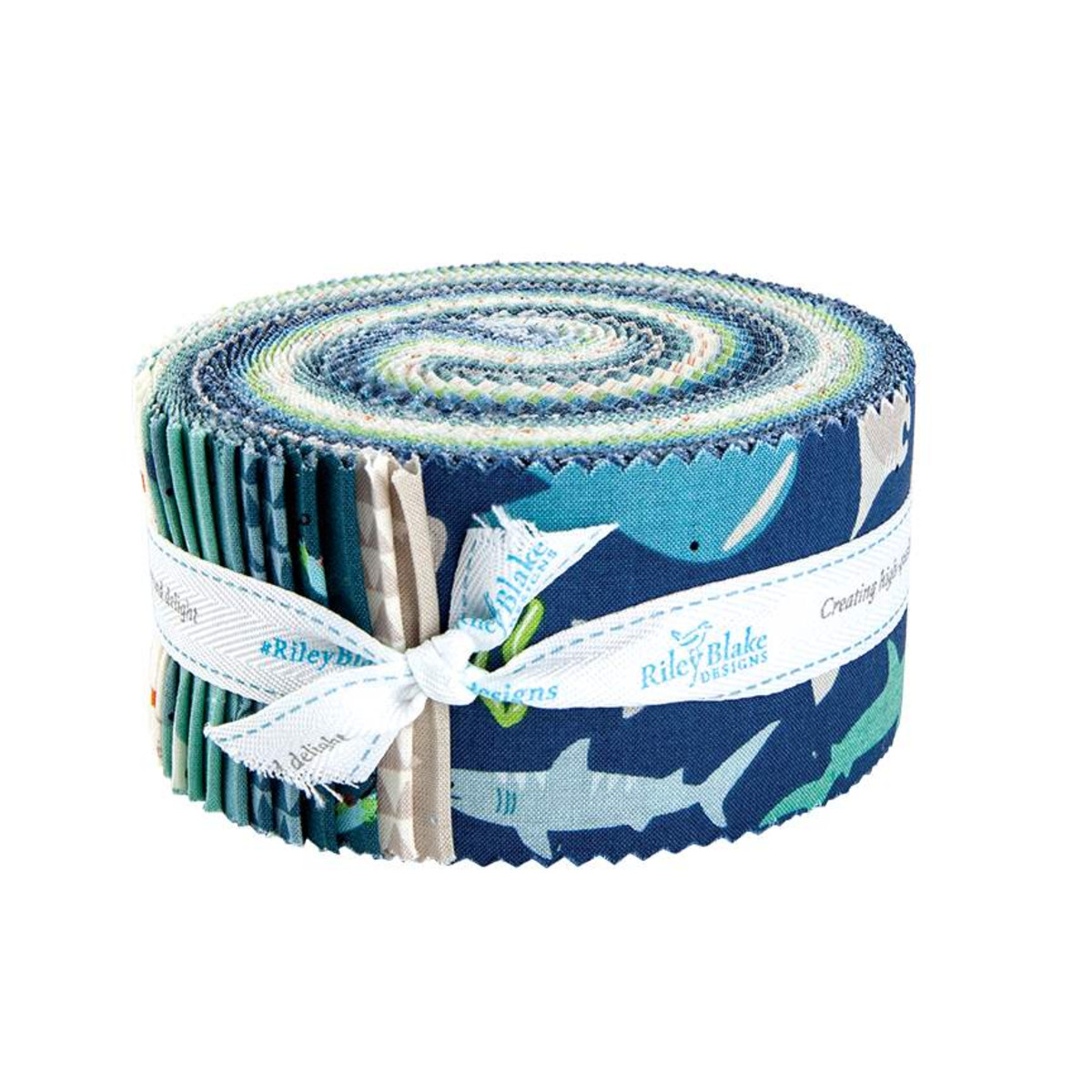 Riley Blake Jelly Roll - Riptide by Citrus & Mint Designs
