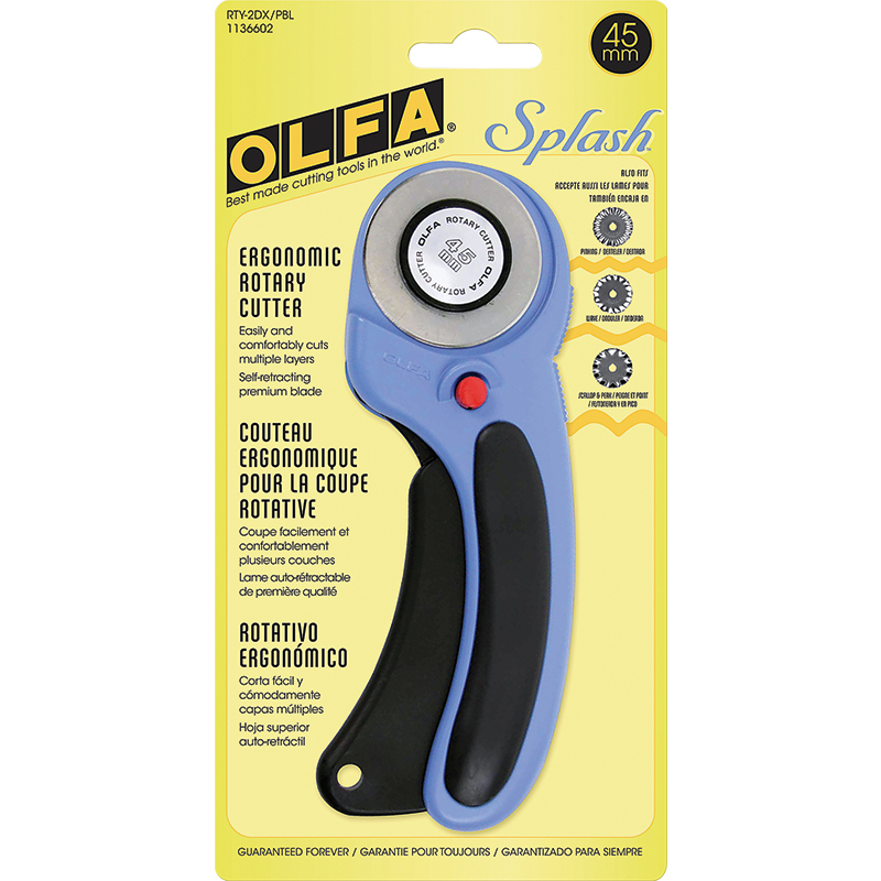 Olfa Rotary Cutter 45mm Ergonomic Pacific Blue