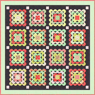 Moda Kit - Scarlet & Sage by Fig Tree Quilts