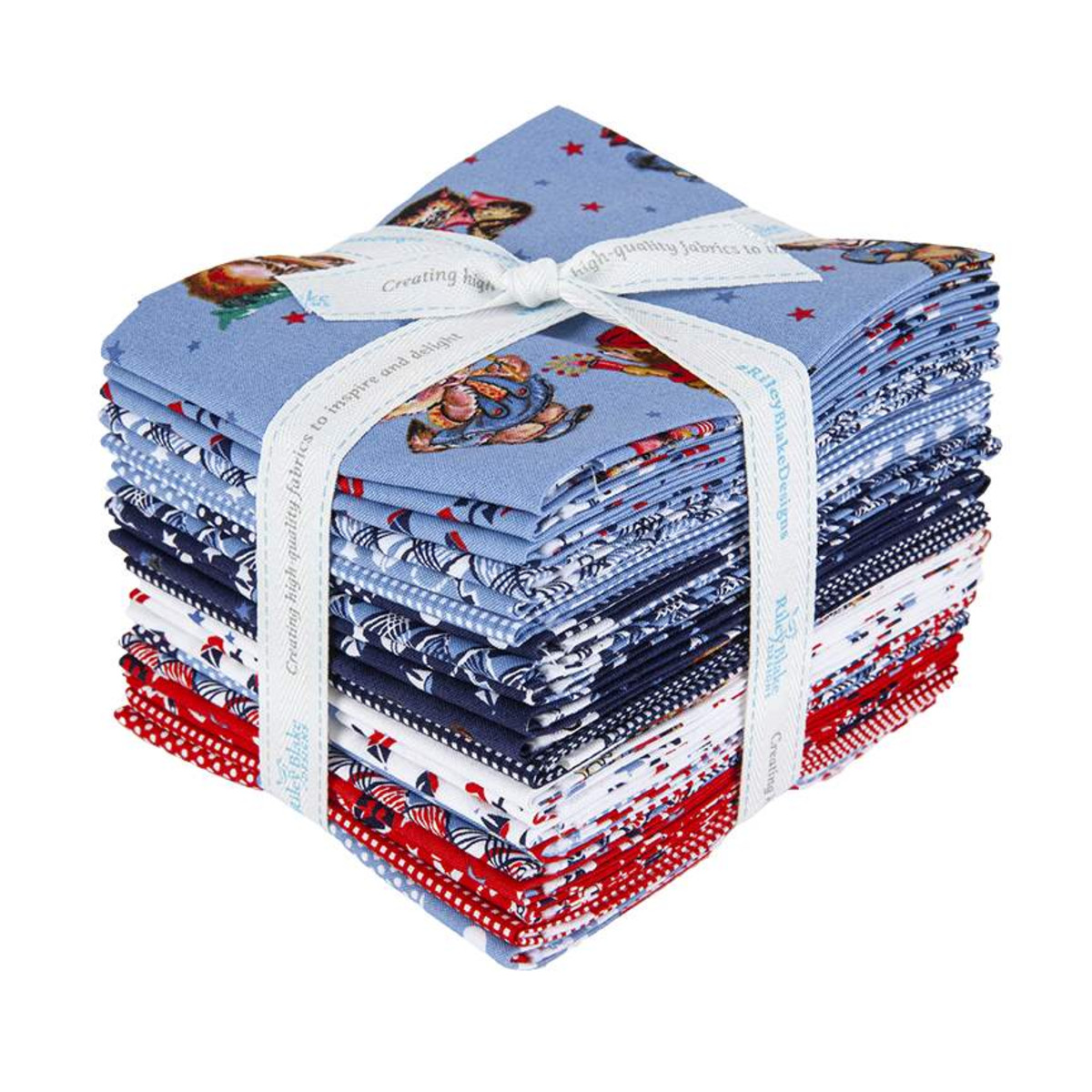 Riley Blake Fat Quarter Bundle - Set Sail America by Lindsay Wilkes