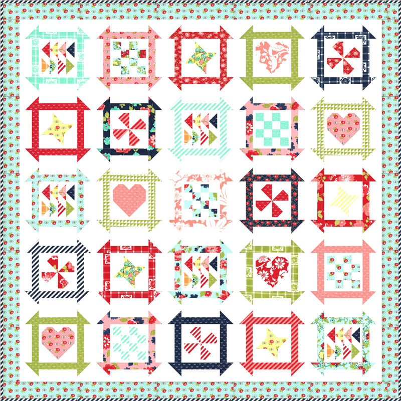 Moda Quilt Kit - Shine On by Bonnie & Camille
