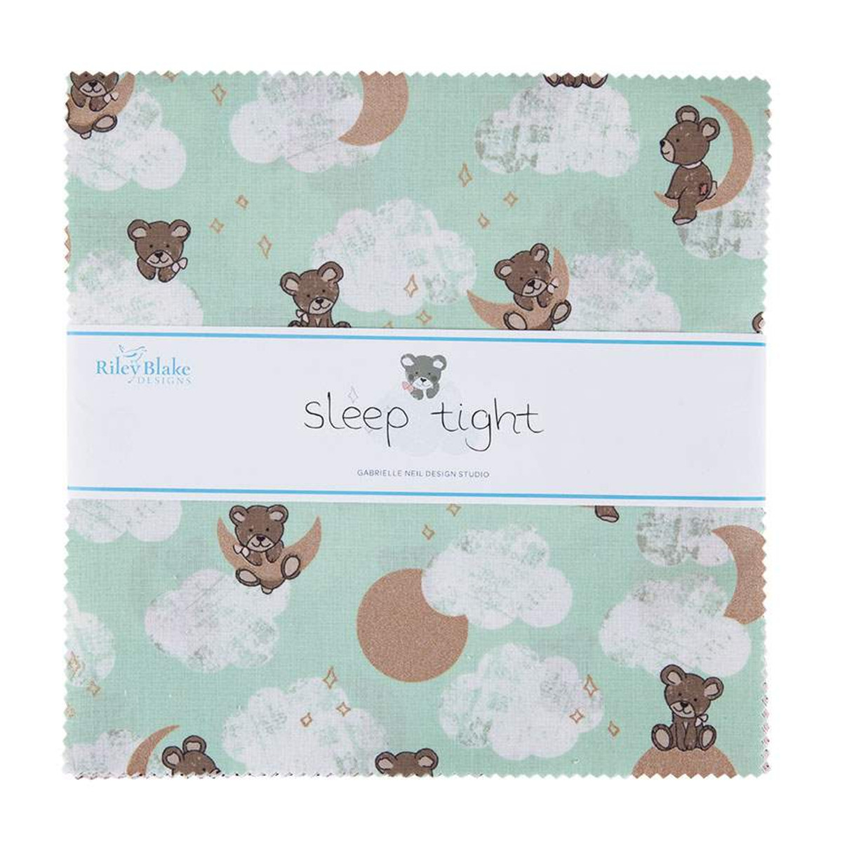 Riley Blake Layer Cake - Sleep Tight by Gabrielle Neil Design Studio