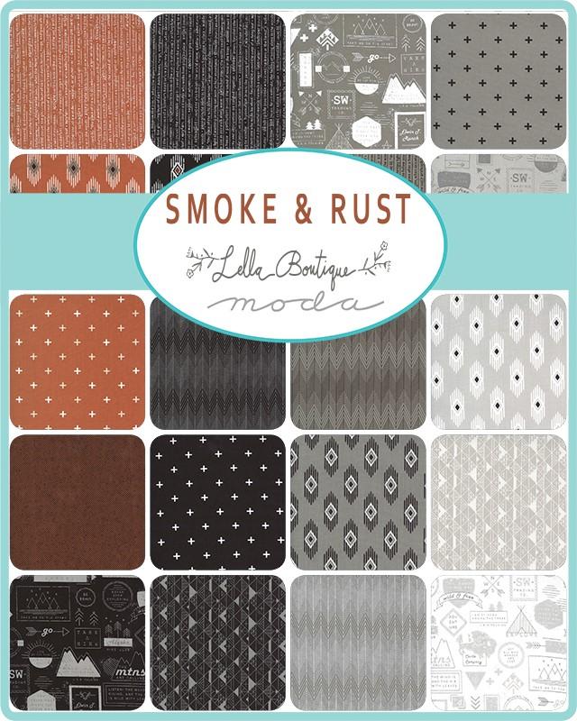 Moda Charm Pack - Smoke & Rust by Lella Boutique