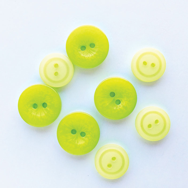 Snack Pack Fresh Green Glow Buttons