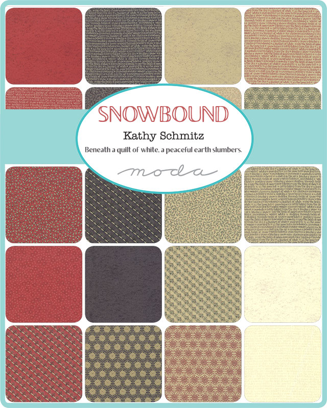 Moda Fat Quarter Bundle - Snowbound by Kathy Schmitz