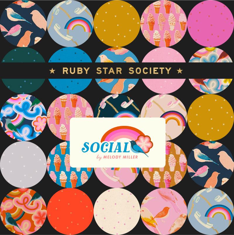 Moda Layer Junior Cake - Ruby Star Society SOCIAL by Melody Miller