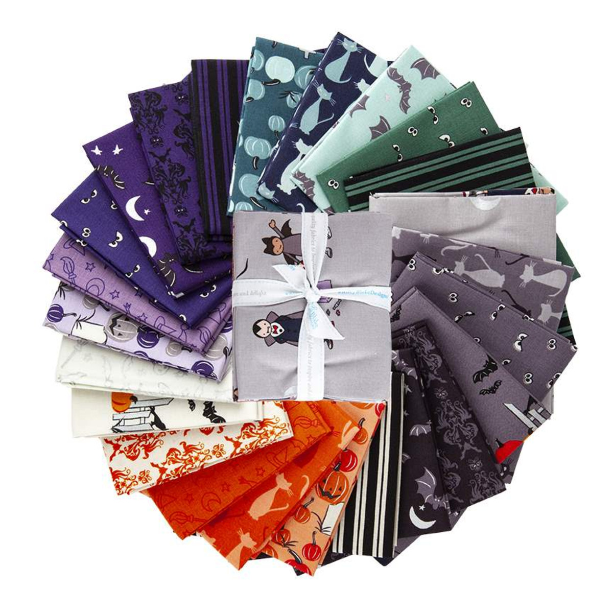 Riley Blake Fat Quarter Bundle - Spooky Hollow by Melissa Mortenson