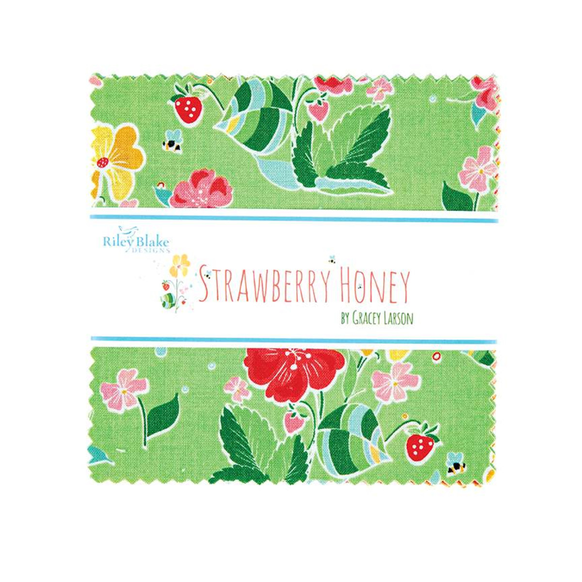 Riley Blake Charm Pack - Strawberry Honey by Gracey Larson