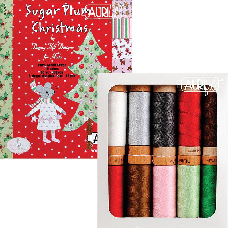 Sugar Plum Christmas Collection Aurifil Small Spools