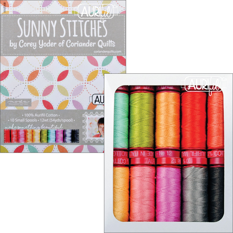 Sunny Stitches Collection 12wt Aurifil Small Spools