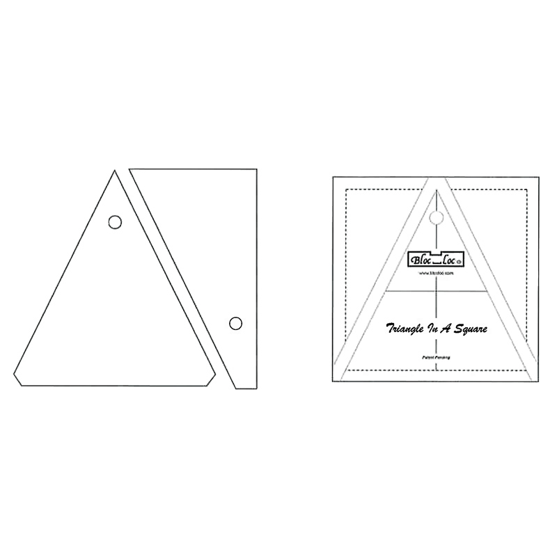 Triangle in A Square 4X4 Bloc Loc Ruler