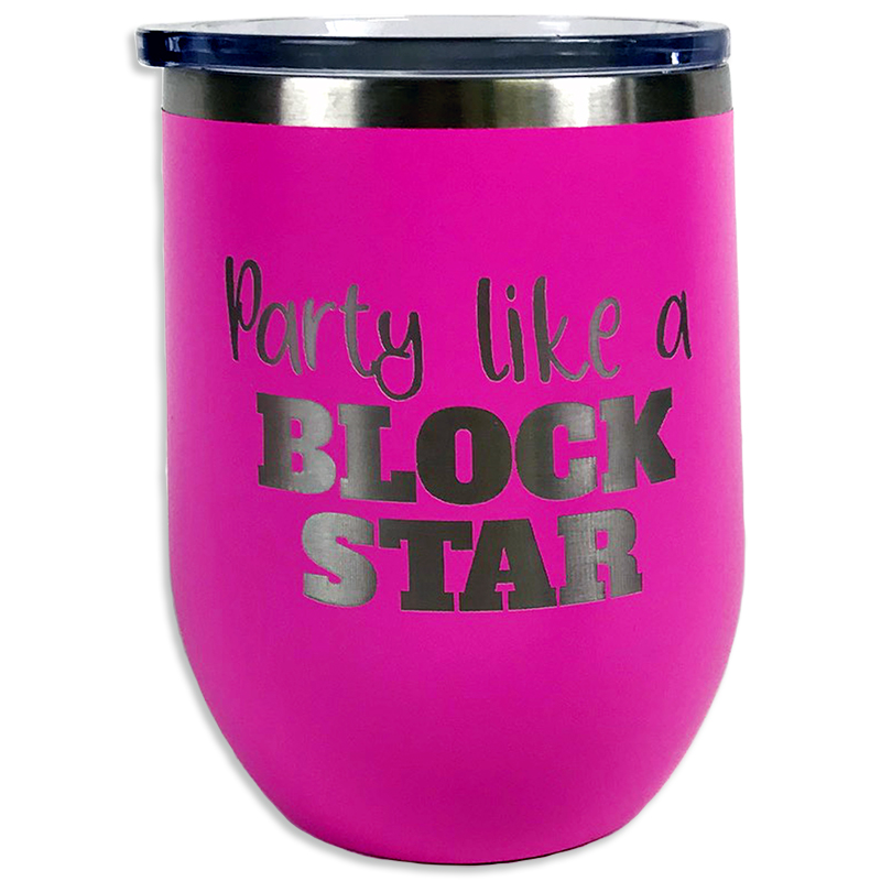 Tumbler Pink Party Block Star