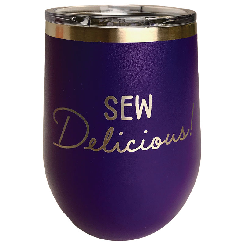 Tumbler Purple Sew Delicious