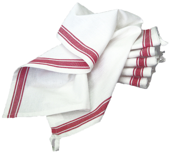Vintage Striped Towel 3ct - Red