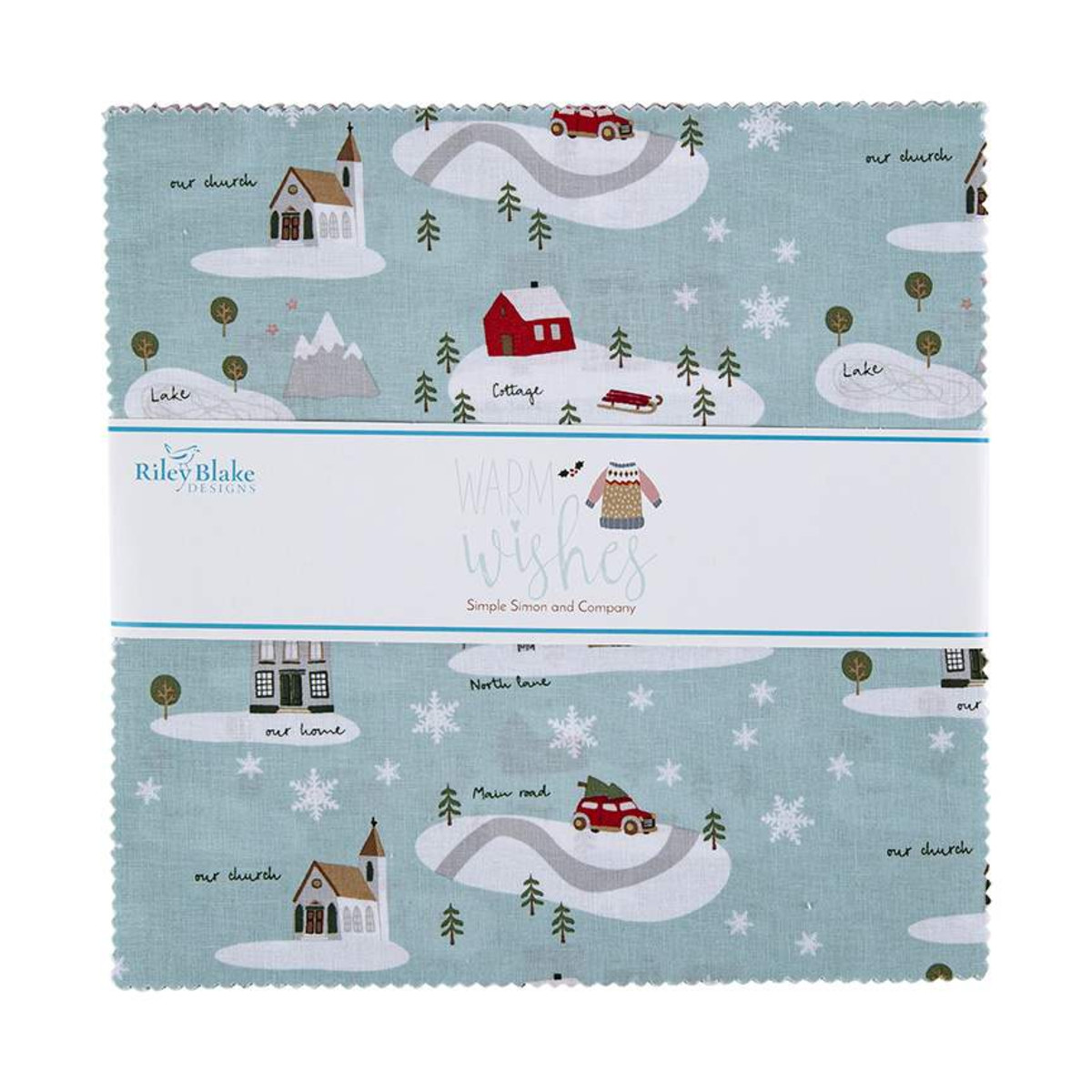 Riley Blake Layer Cake - Warm Wishes by Simple Simon and Company