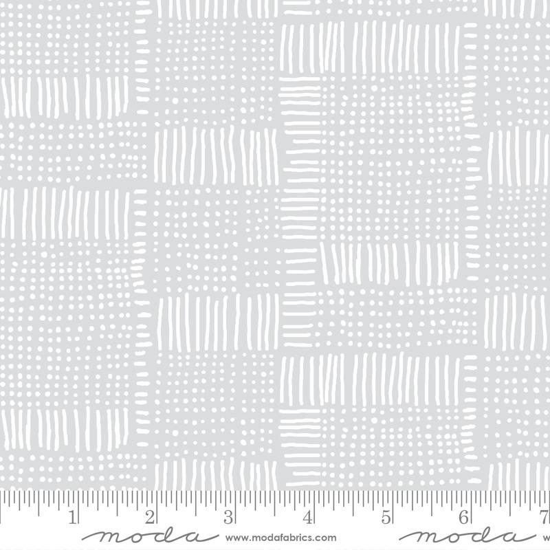 Moda Whispers Dash Dot Zen Grey 33551 16 Yardage