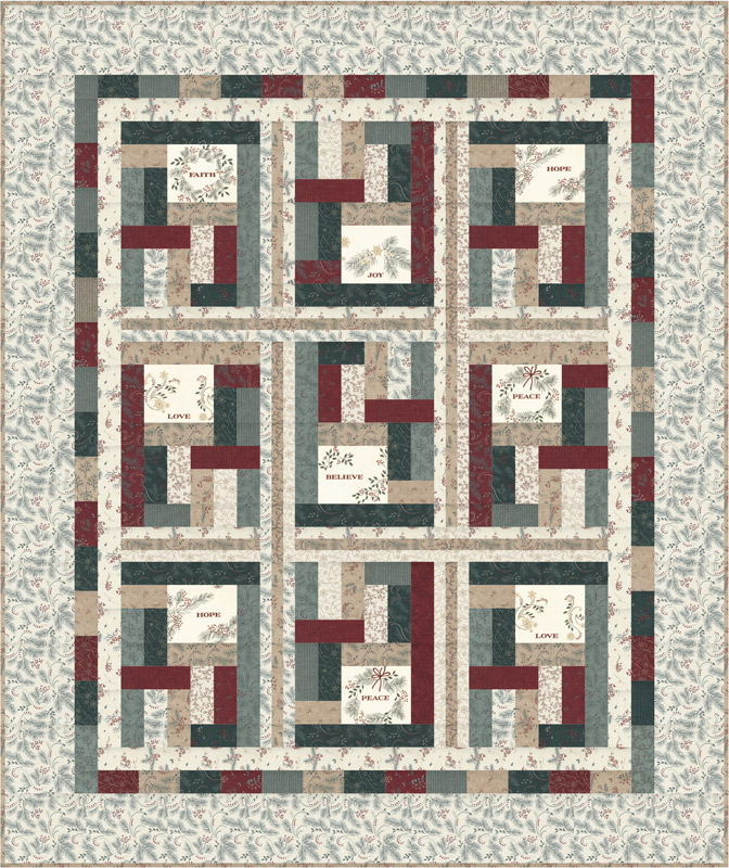 Moda Quilt Kit - Warm Winter Wishes by Holly Taylor
