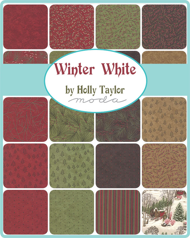 Moda Honey Bun - Winter White by Holly Taylor