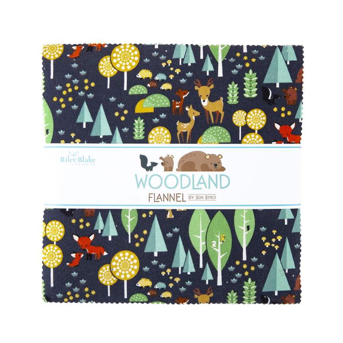 Riley Blake Layer Cake - Woodland Flannel by Ben Byrd
