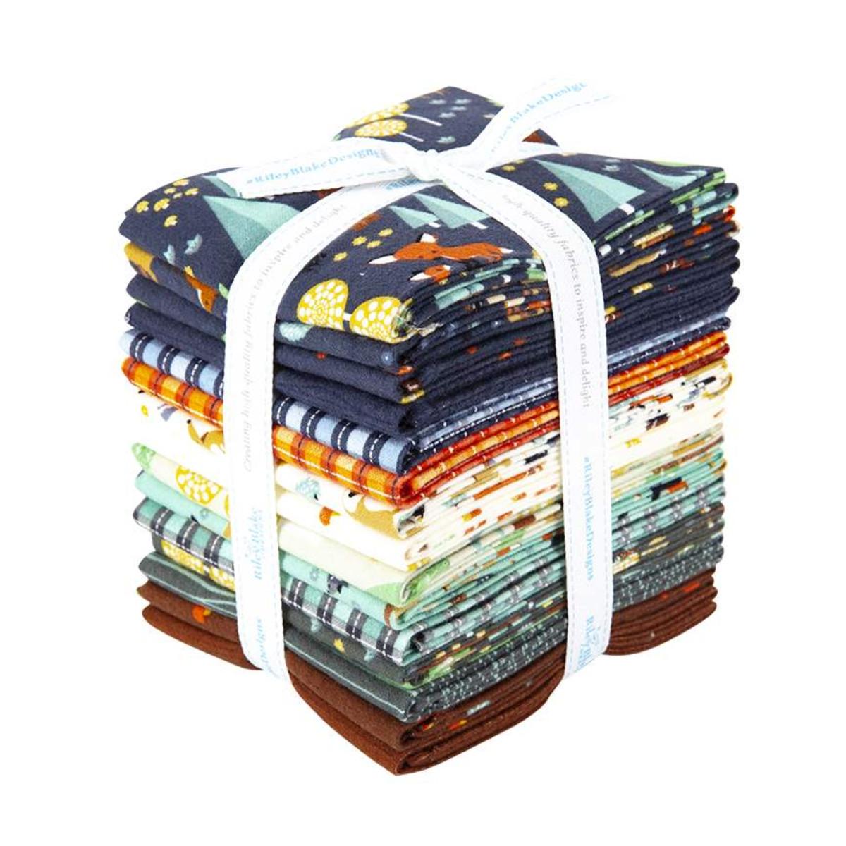 Riley Blake Fat Quarter Bundle - Woodland Flannel by Ben Byrd