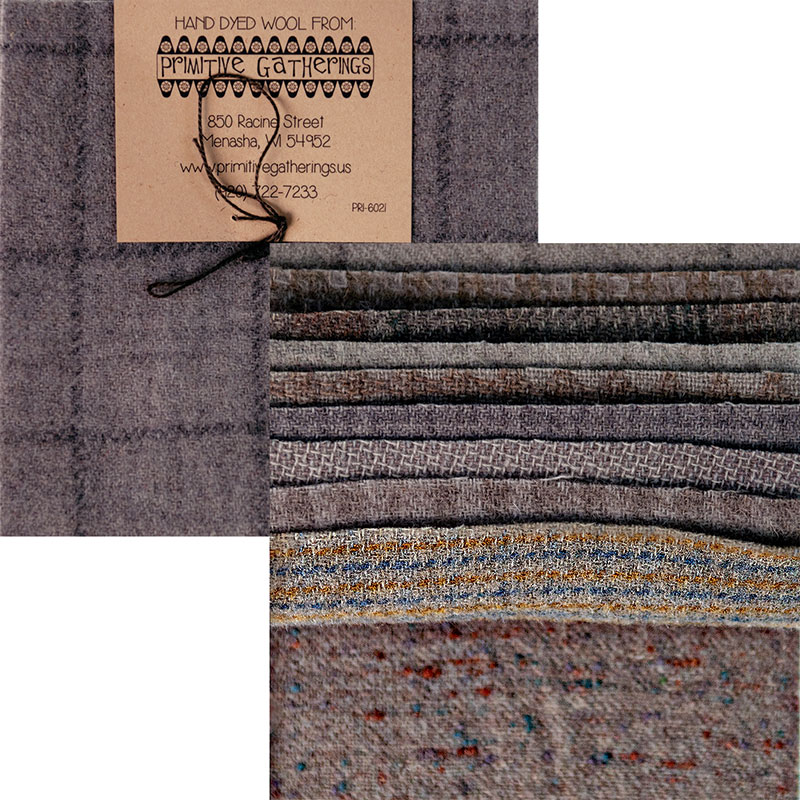 Moda Charm Pack - Wool Cement by Primitive Gatherings