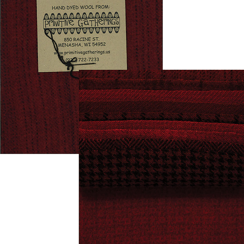 Moda Charm Pack - Wool Christmas by Primitive Gatherings