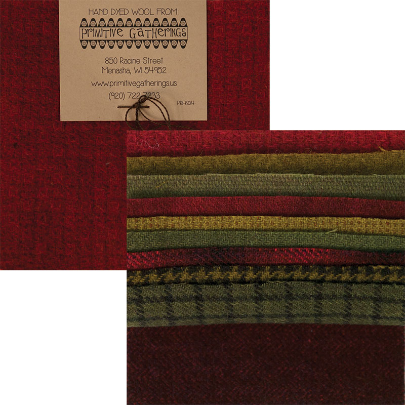 Moda Charm Pack - Wool Holiday by Primitive Gatherings