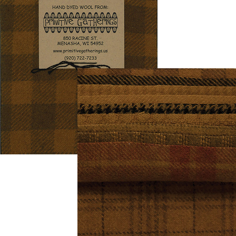 Moda Charm Pack - Wool Mustard by Primitive Gatherings