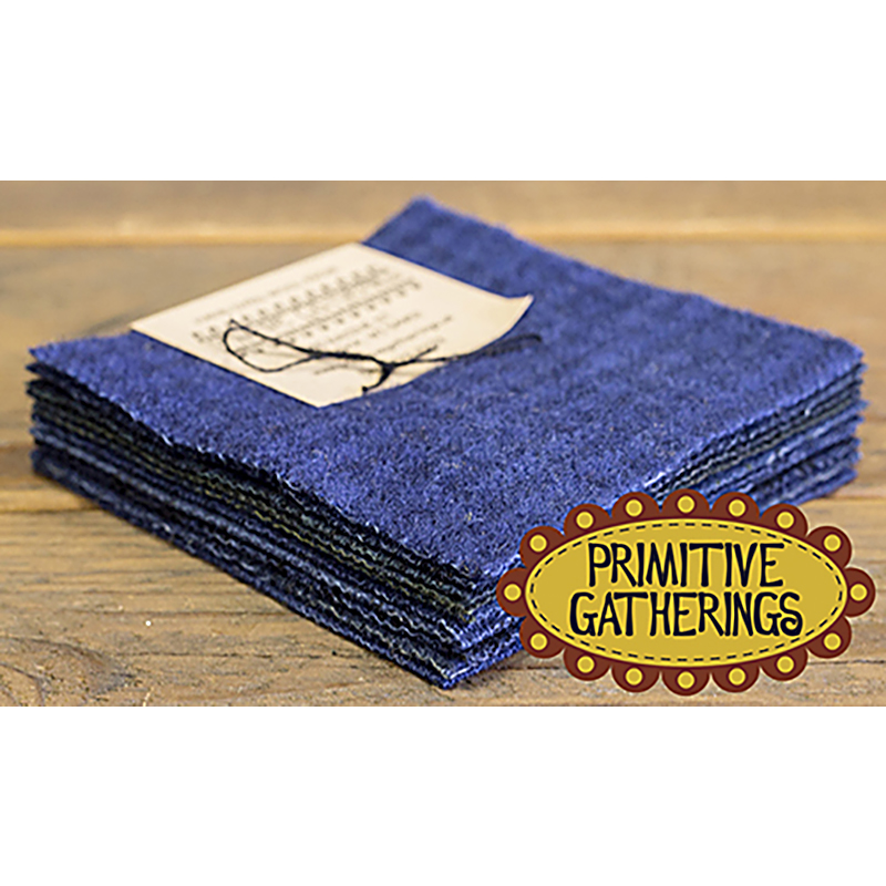 Moda Charm Pack - Wool Navy by Primitive Gatherings