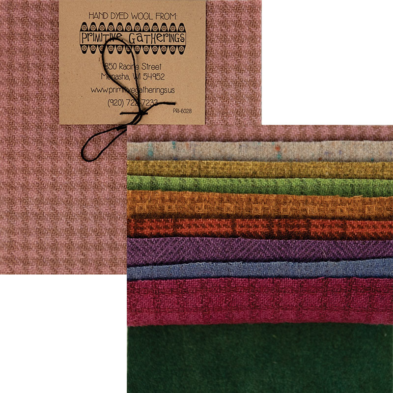 Moda Charm Pack - Wool Pastel Texture by Primitive Gatherings