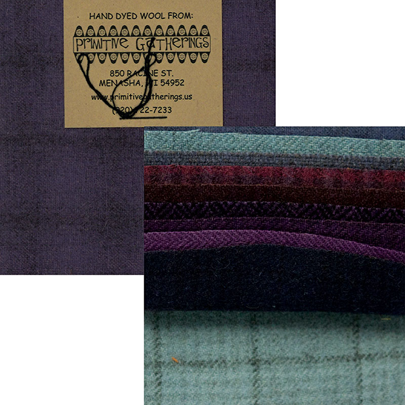 Moda Charm Pack - Wool Purples by Primitive Gatherings