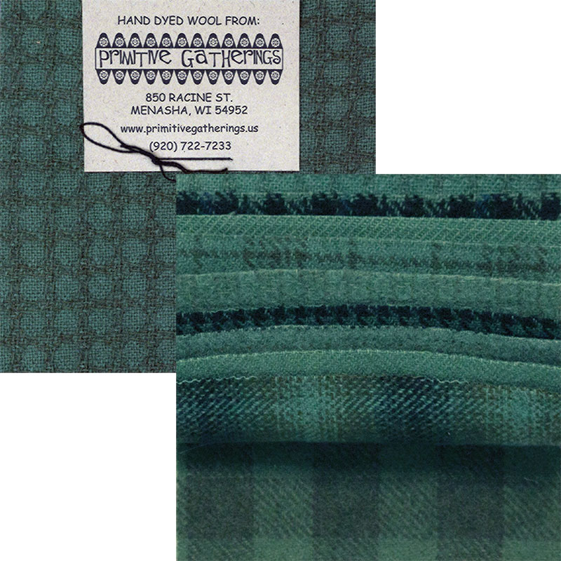 Moda Charm Pack - Wool Seawater by Primitive Gatherings
