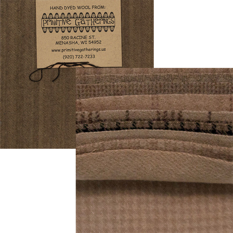 Moda Charm Pack - Wool Taupe by Primitive Gatherings