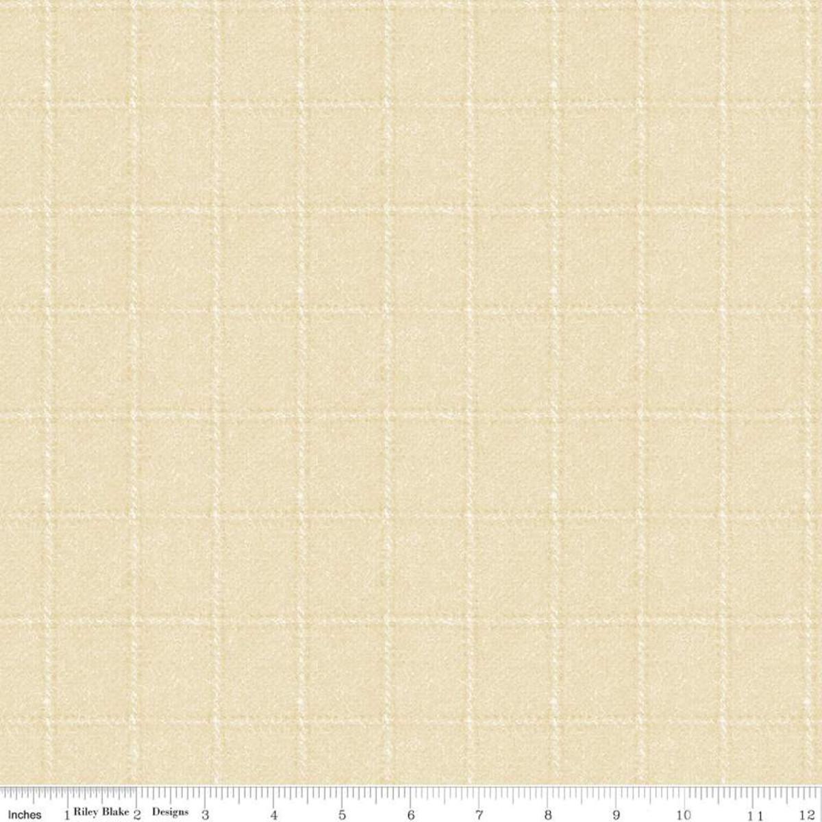 Riley Blake Woolen Flannel Plaid Cream F10640 Yardage