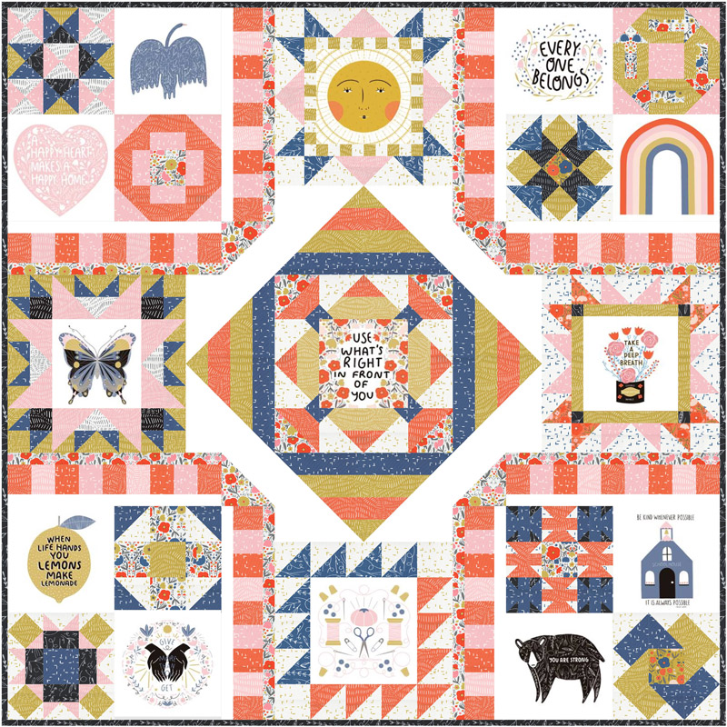 Moda Quilt Kit - Words To Live By by Gingiber