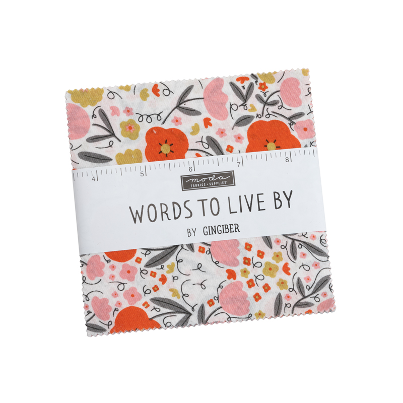 Moda Charm Pack - Words To Live By by Gingiber