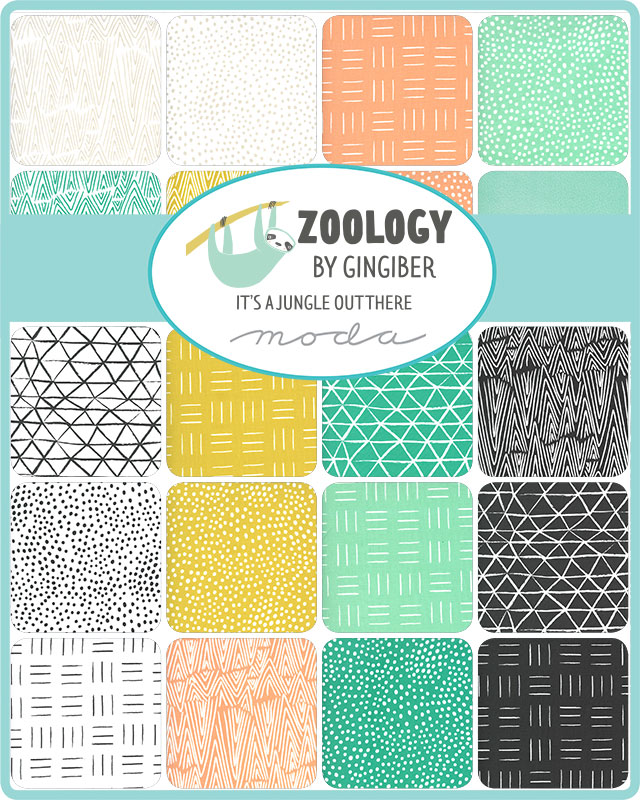 Moda Jelly Roll - Zoology by Gingiber
